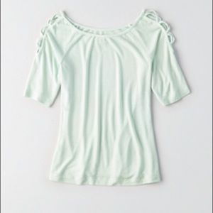 💕NWT💕 AEO SOFT & SEXY LACE-UP SLEEVE T-SHIRT